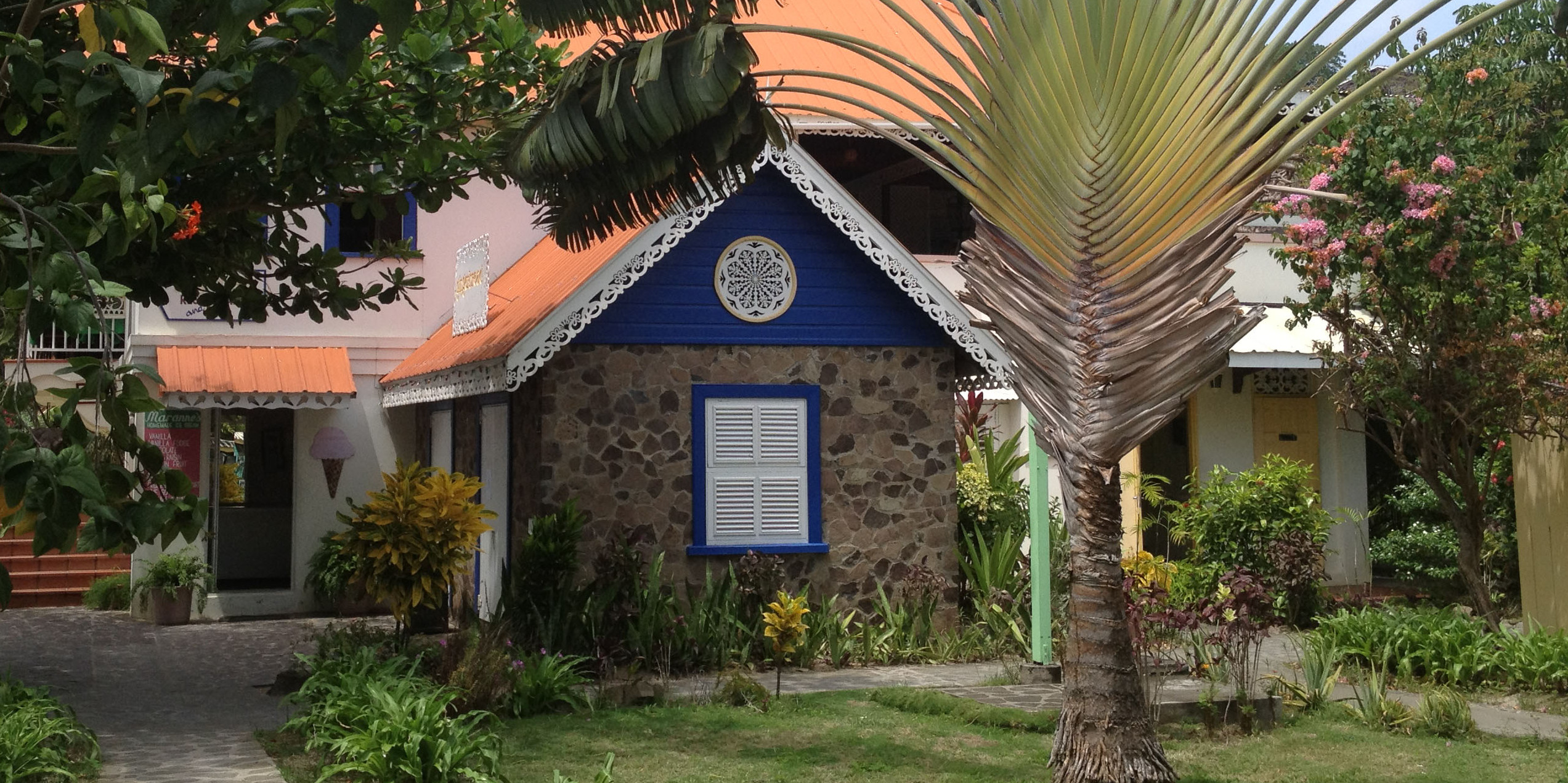 Moranne's famous homemade Ice Cream shop, Bequia
