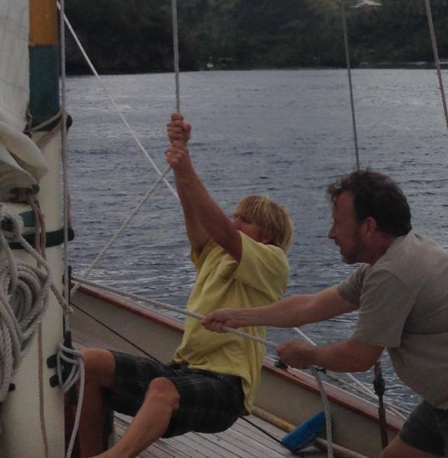 Heron sailing crew