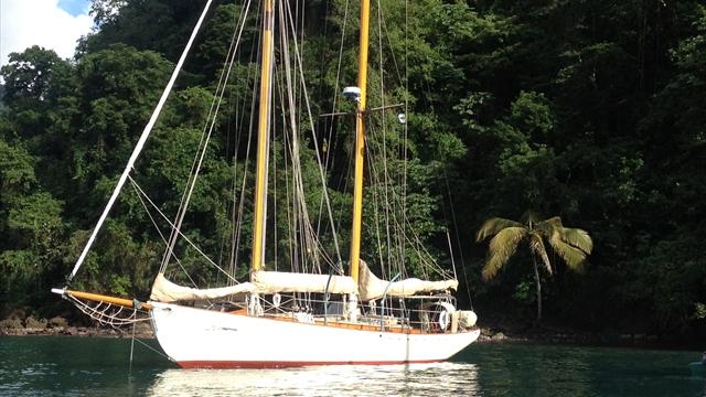 Schooner Yacht HERON, Cumberland Bay